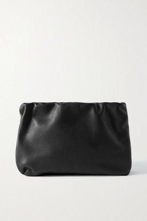 Bourse Leather Clutch - Black