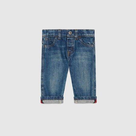 Baby washed denim pant - Gucci Boy's Pants & Shorts 455454XR3844025