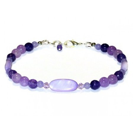 Purple Blend Beaded Bracelet