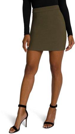 Back Zip Miniskirt