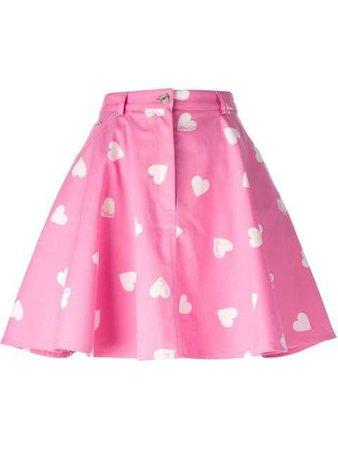 moschino pink hearts skirt