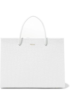 MEDEA | Prima Hanna small croc-effect leather tote | NET-A-PORTER.COM