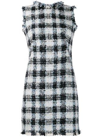 Alexander Mcqueen Bouclé Tweed Mini Dress 585979QEAAR Blue   Farfetch