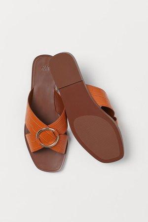 Sandals - Orange - Ladies | H&M US