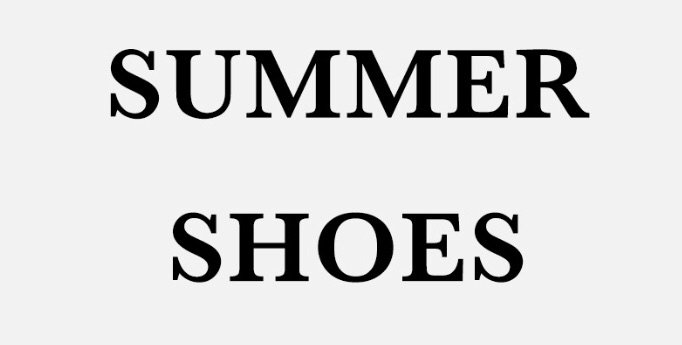 text summer shoes