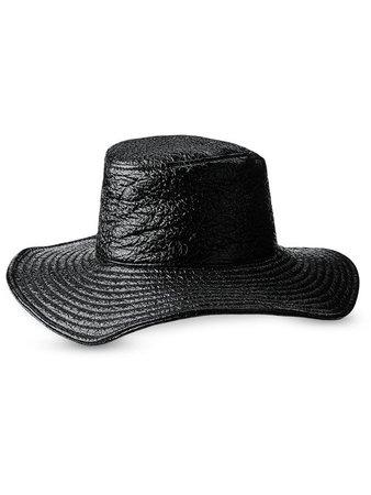 Maison Michel Lauren crinkled-finish hat - FARFETCH
