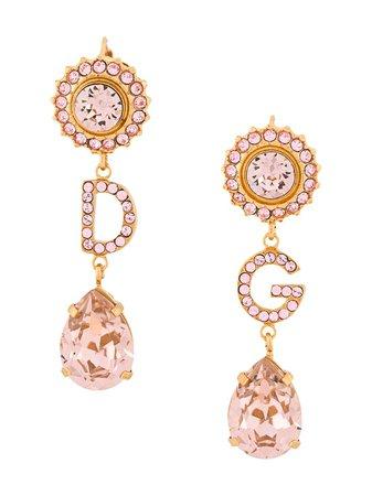 Dolce & Gabbana Orecchini Pendenti Con Cristalli - Farfetch