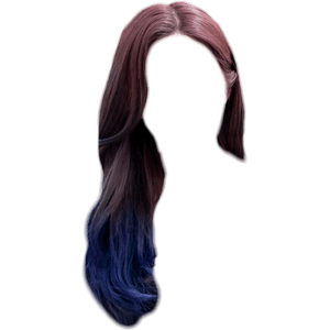brown hair with blue tips png