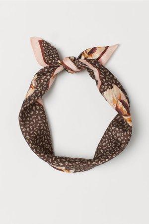 Scarf/hairband - Brown/patterned - Ladies | H&M US