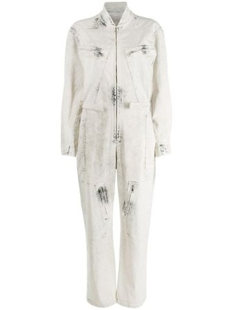 Stella McCartney Bleached Denim Zipped Jumpsuit - Farfetch
