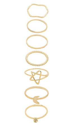 8 Other Reasons Art Walk Ring Set in Gold   REVOLVE