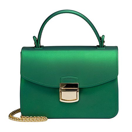 Amazon.com: Top Handle Clutch Handbags Jelly Crossbody Bags for Women Tote Purse - Green: Clothing