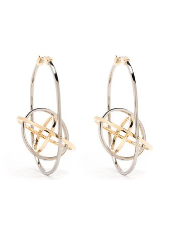 Delfina Delettrez 18kt Yellow Gold Tourbillon Earrings - Farfetch