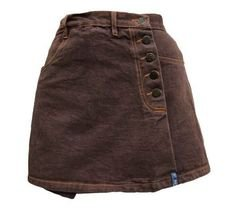 grunge brown skirt
