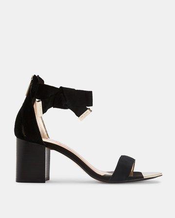 LOOPIE Block heel suede sandal