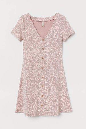 Short Jersey Dress - Pink