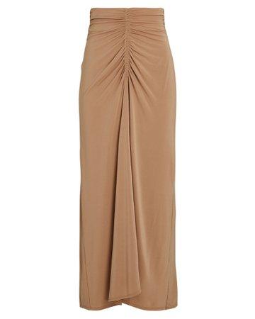 A.L.C. Aurelie Ruched Midi Skirt | INTERMIX®