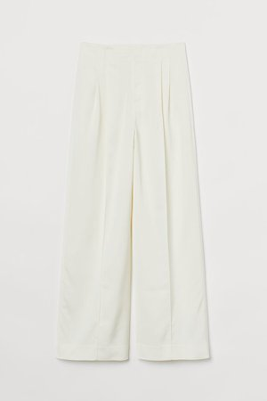 Wide-cut Pants - White