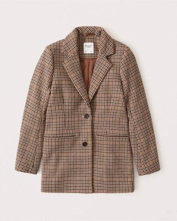 Women's Wool-Blend Blazer Coat | Women's New Arrivals | Abercrombie.com