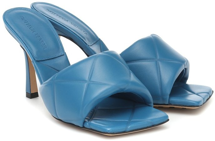 Rubber Lido leather sandals