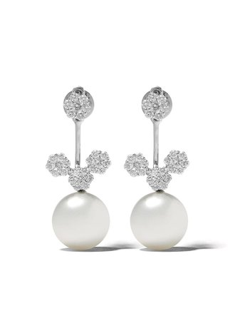 Yoko London 18Kt White Gold Novus South Sea Pearl And Diamond Earrings | Farfetch.com