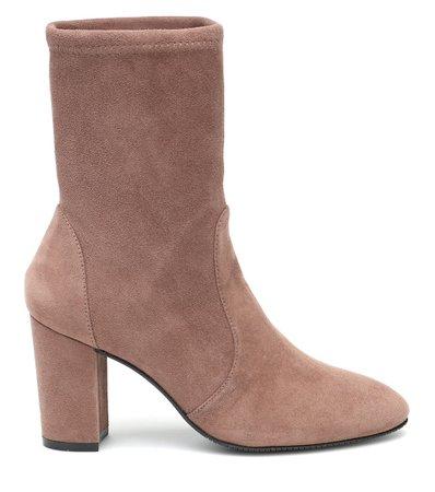 Yuliana Suede Ankle Boots | Stuart Weitzman - Mytheresa