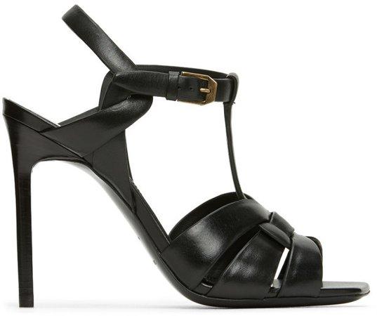 Black Tribute 105 Heeled Sandals
