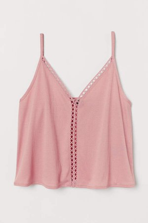 V-neck Camisole Top - Pink