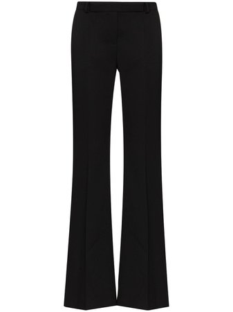 Shop Alexander McQueen high-waisted wool trousers with Express Delivery - FARFETCH