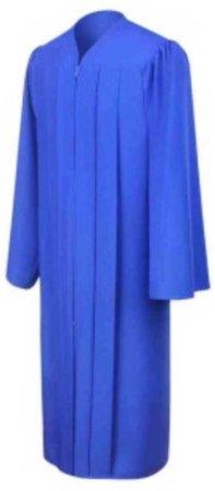graduation gown blue