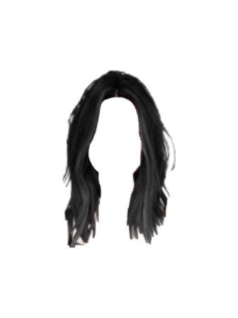 Black Hair PNG @bittersweetofficial