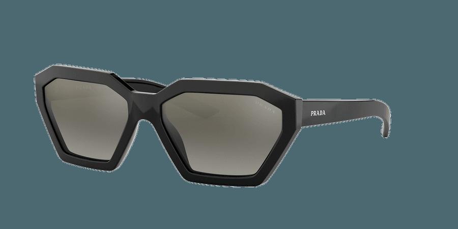 Prada PR 03VS 57 Grey-Black & Black Sunglasses | Sunglass Hut USA