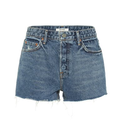 Grlfrnd - Cindy high-rise denim shorts | Mytheresa