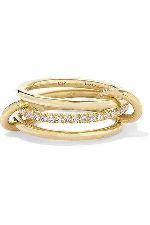 Spinelli Kilcollin | Sonny set of three 18-karat gold diamond rings | NET-A-PORTER.COM
