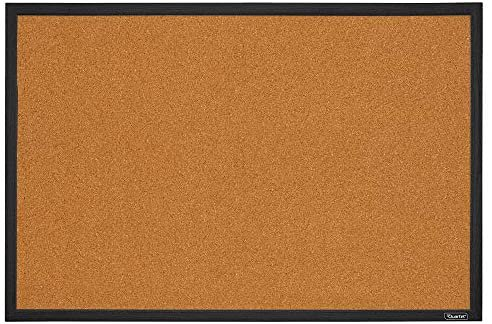 Amazon.com : Quartet Cork Board Bulletin Board, 2' x 3' Framed Corkboard, Black Frame, Decorative Hanging Pin Board, Perfect for Home Office Decor, Home School Message Board or Vision Board (MWDB2436-BK) : Office Products