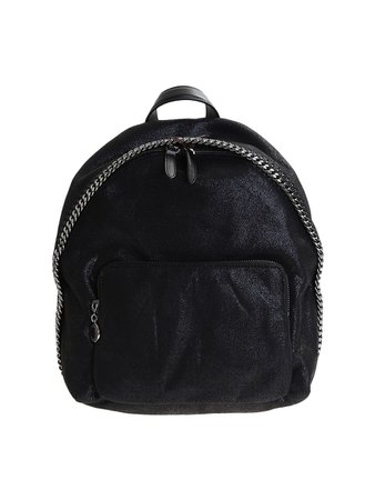 Stella McCartney Black Falabella Shaggy Deer Backpack