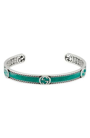 Gucci Interlocking-G Sterling Silver Cuff Bracelet | Nordstrom