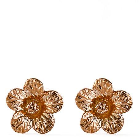 Bernard James Flora Petunia 14K Gold Earrings