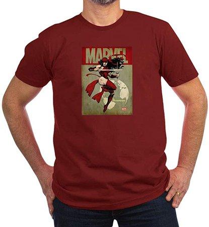 Amazon.com: CafePress Elektra Marvel Vintage Men's Fitted T Shirt (Dark) Men's Fitted T-Shirt, Stylish Printed Vintage Fit T-Shirt Cranberry: Clothing