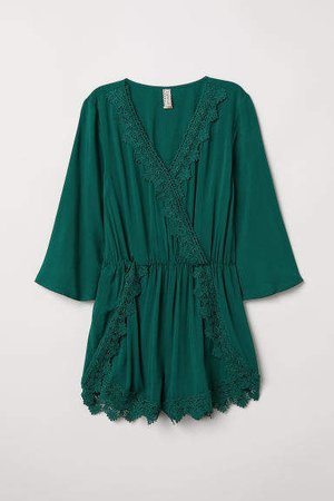 Jumpsuit with Lace - Green