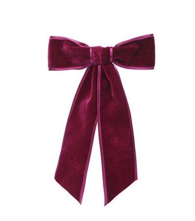 Velvet bow barrette