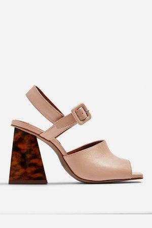 ROSE Marble Heeled Sandals | Topshop