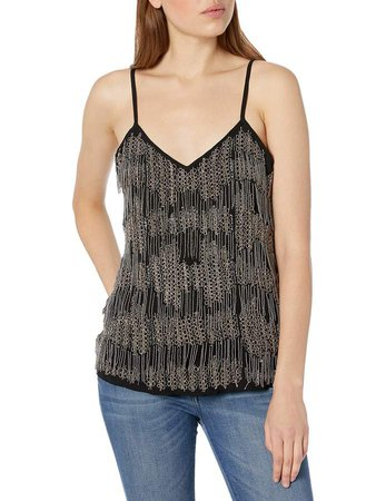 Women's Cami with Beaded Fringe