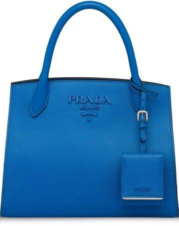 monochrome Saffiano leather tote bag