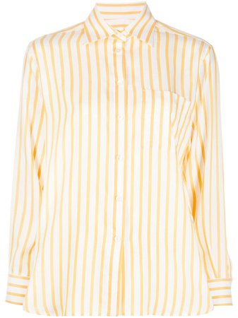 Salvatore Ferragamo Striped Silk Shirt Ss20