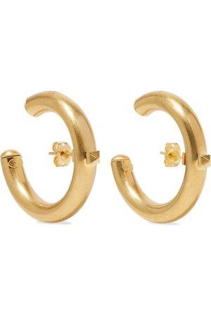 Valentino | Valentino Garavani The Rockstud gold-tone hoop earrings | NET-A-PORTER.COM