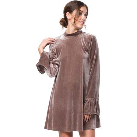 Very J Mock Neck Velvet Dress   Muse Boutique Outlet – Muse Outlet