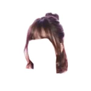 Short Brown Hair PNG Bangs