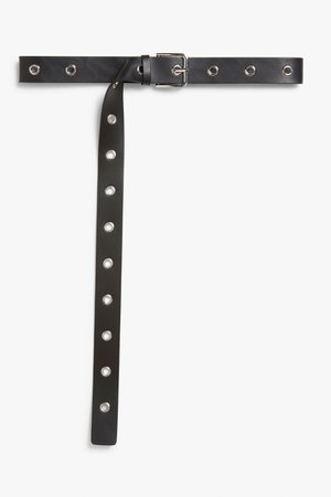 Faux leather belt - Black - Belts - Monki WW