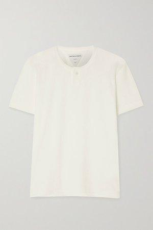 Cotton-blend Terry T-shirt - Cream